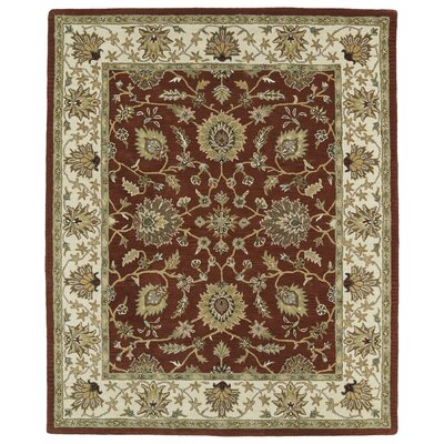 Barkell Red/Ivory Area Rug Rug Size: Rectangle 8 x 11