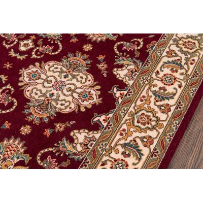 Forrestal Burgundy Area Rug Rug Size: Rectangle 96 x 13