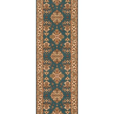 Forrestal Teal Area Rug Rug Size: Rectangle 8 x 10