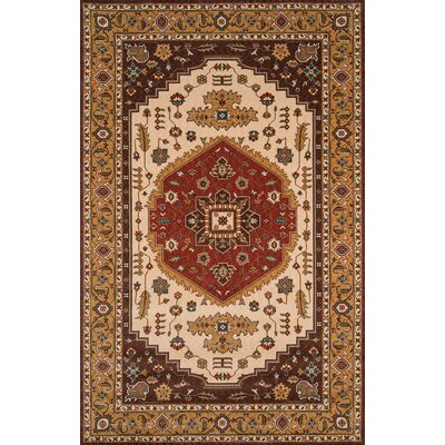 Forrestal Cocoa/Red Area Rug Rug Size: Rectangle 2' x 3'