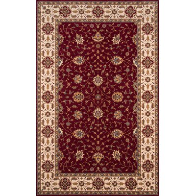 Forrestal Burgundy Area Rug Rug Size: Rectangle 3 x 5