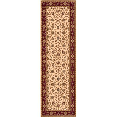Forrestal Ivory/Red Area Rug Rug Size: Rectangle 3 x 5