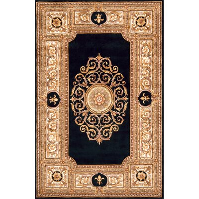 Gansevoort Hand-Tufted Black/Light Brown Area Rug Rug Size: 36 x 56