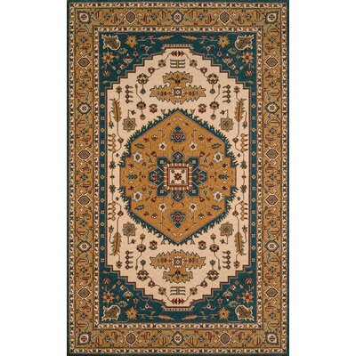 Forrestal Blue/Orange Area Rug Rug Size: 3 x 5