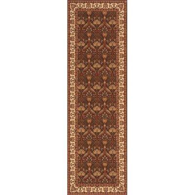 Forrestal Brown Area Rug Rug Size: Runner 26 x 8