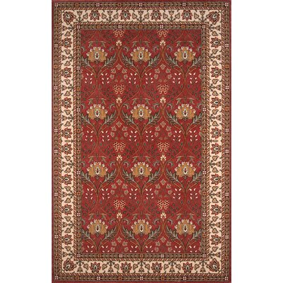 Forrestal Burgundy Area Rug Rug Size: Rectangle 2 x 3