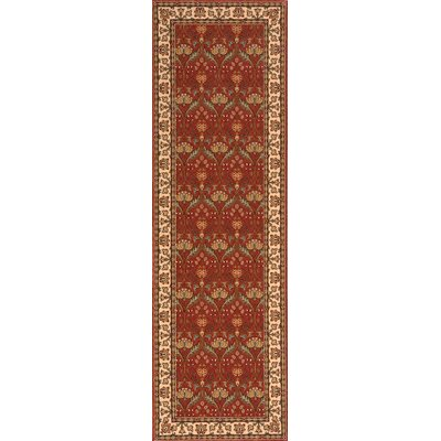 Forrestal Burgundy Area Rug Rug Size: Runner 26 x 8