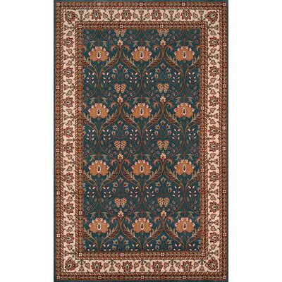 Forrestal Blue/Beige Area Rug Rug Size: Rectangle 3' x 5'