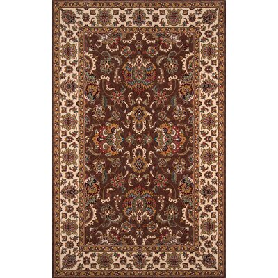 Forrestal Burgundy/Beige Area Rug Rug Size: Rectangle 5 x 8