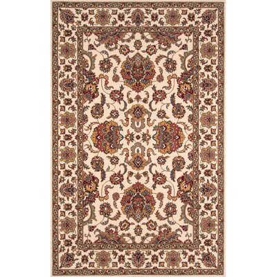 Forrestal Ivory/Burgundy Area Rug Rug Size: Rectangle 3 x 5