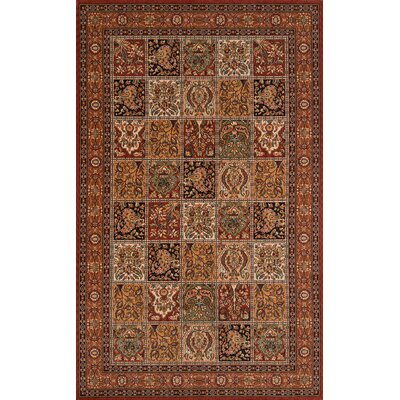 Forrestal Dark Red Area Rug Rug Size: Rectangle 3 x 5