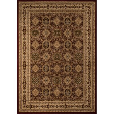 Mira Monte Red Area Rug Rug Size: Rectangle 53 x 77