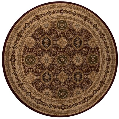 Mira Monte Red Area Rug Rug Size: Round 710