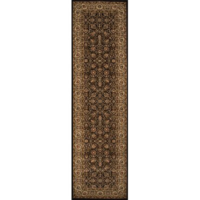 Mira Monte Black/Brown Area Rug Rug Size: Runner 23 x 71