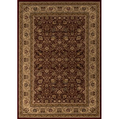 Mira Monte Burgundy Area Rug Rug Size: Rectangle 53 x 77