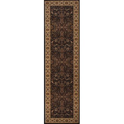 Mira Monte Black/Brown Area Rug Rug Size: Runner 23 x 710
