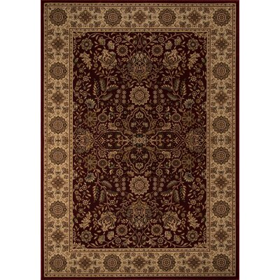 Mira Monte Burgundy Area Rug Rug Size: Rectangle 113 x 15
