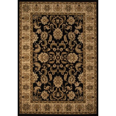 Mira Monte Black Area Rug Rug Size: Rectangle 113 x 15