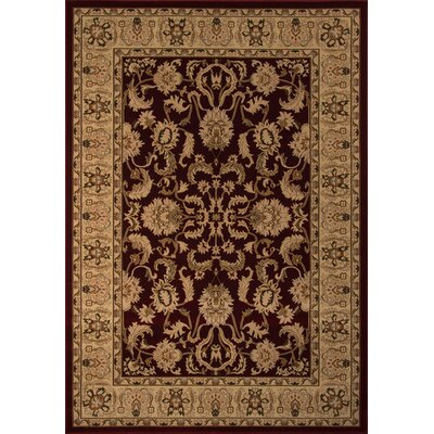 Mira Monte Burgundy/Tan Area Rug Rug Size: Rectangle 53 x 77