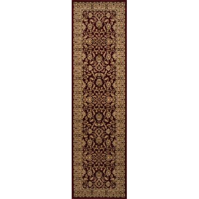 Mira Monte Burgundy/Tan Area Rug Rug Size: Runner 23 x 710