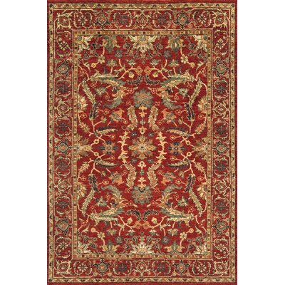 Charonneau Hand-Knotted Red Area Rug