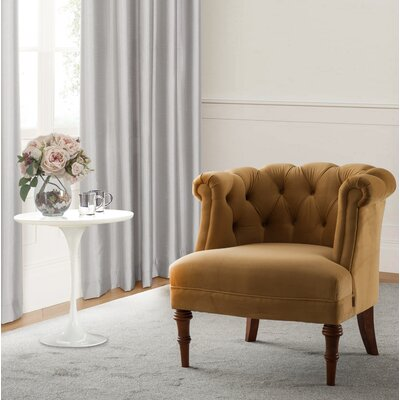Morphew Barrel Chair Upholstery Color: Gold