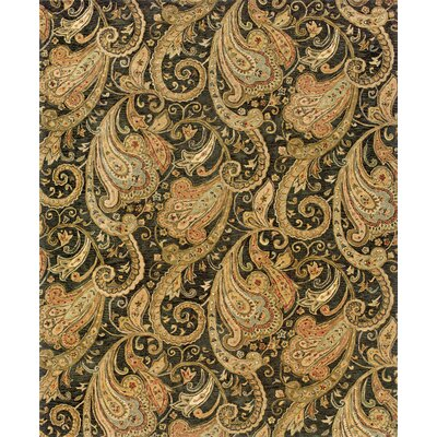 Lanesborough Hand-Tufted Black/Gold Area Rug Rug Size: 53 x 83