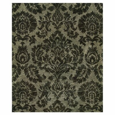 Lanesborough Hand-Tufted Gray Area Rug Rug Size: 76 x 96