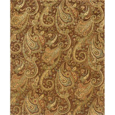 Lanesborough Hand-Tufted Brown/Gold Area Rug Rug Size: 83 x 113