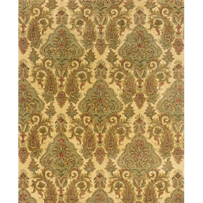 Lanesborough Hand-Tufted Beige/Green Area Rug Rug Size: 93 x 133