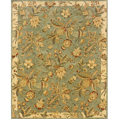 Lanesborough Hand-Tufted Blue/Beige Area Rug Rug Size: 83 x 113