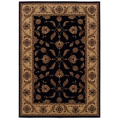 Jasper Black/Ivory Area Rug Rug Size: Rectangle 67 x 96