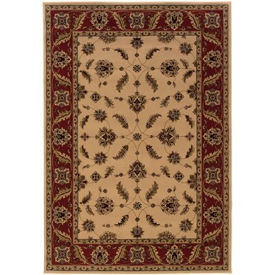 Jasper Ivory/Red Area Rug Rug Size: Rectangle 67 x 96