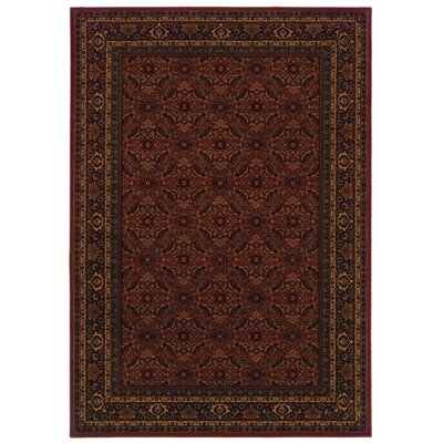 Jasper Red/Black Area Rug Rug Size: 910 x 1210