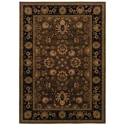Jasper Brown/Black Area Rug Rug Size: Runner 110 x 76