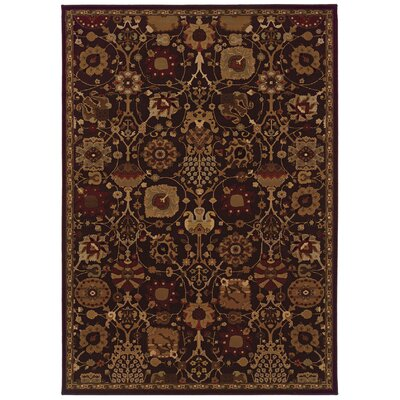 Jasper Brown/Multi Area Rug Rug Size: 53 x 76