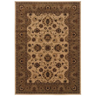 Jasper Ivory/Blue Area Rug Rug Size: Rectangle 910 x 1210