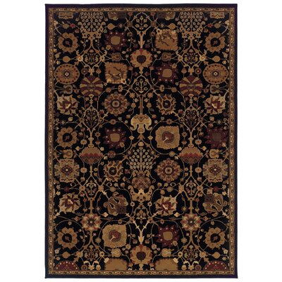 Jasper Black/Multi Area Rug Rug Size: Rectangle 910 x 1210