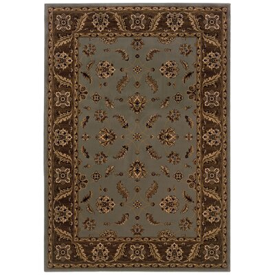 Jasper Blue/Brown Area Rug Rug Size: Runner 110 x 76