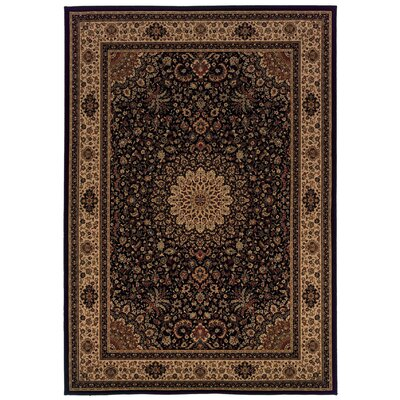 Jasper Black/Ivory Area Rug Rug Size: Rectangle 710 x 1010