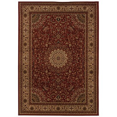 Jasper Red/Ivory Area Rug Rug Size: Rectangle 67 x 96