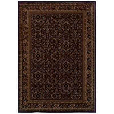 Jasper Black/Red Area Rug Rug Size: 53 x 76