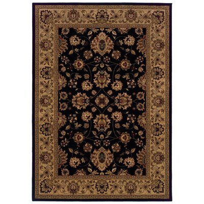 Jasper Black/Ivory Area Rug Rug Size: Rectangle 53 x 76