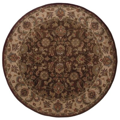 Vinoy Hand-made Brown/Beige Area Rug Rug Size: Round 76