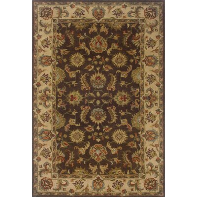 Vinoy Hand-made Brown/Beige Area Rug Rug Size: 36 x 56