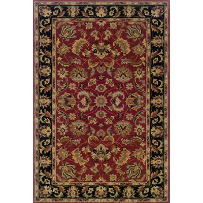 Vinoy Hand-made Red/Black Area Rug Rug Size: 5 x 8