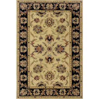 Vinoy Hand-made Ivory/Black Area Rug