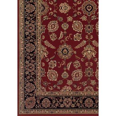 Shelburne Traditional Red/Black Area Rug Rug Size: Square 8
