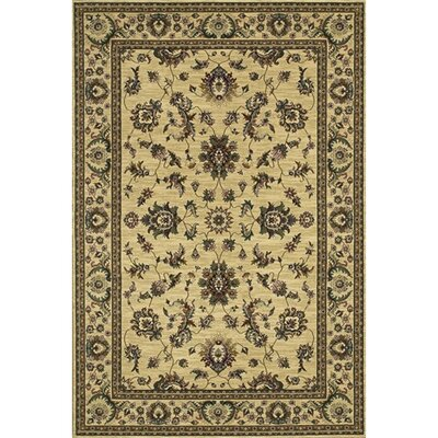Shelburne Traditional Ivory/Green Area Rug Rug Size: 4 x 6