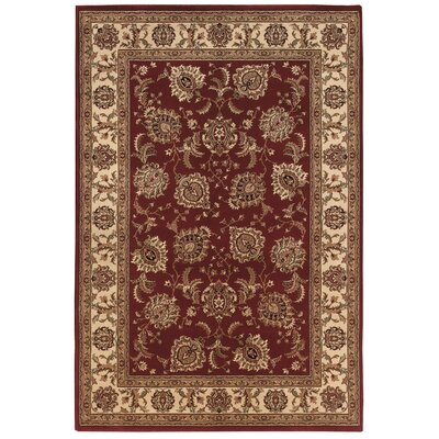Shelburne Red/Ivory Area Rug Rug Size: 53 x 79